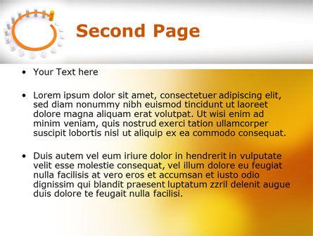 Circle Rise Diagram PowerPoint Template, Slide 2, 08484, Business Concepts — PoweredTemplate.com