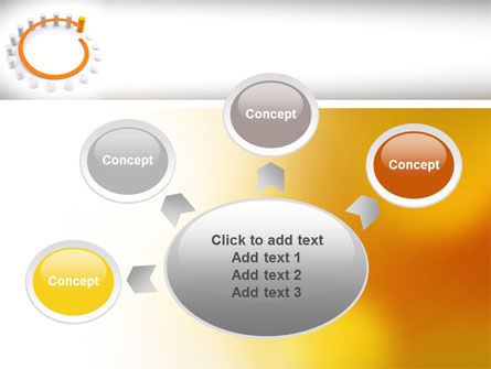 Circle Rise Diagram PowerPoint Template Slide 7