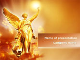 Religious/Spiritual: Guardian Angel PowerPoint Template #08486