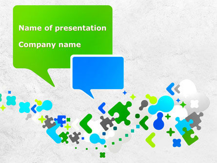 Telecommunication: Abstract Network PowerPoint Template #08487