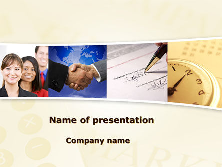 Under Contract PowerPoint Template, 08490, Business — PoweredTemplate.com