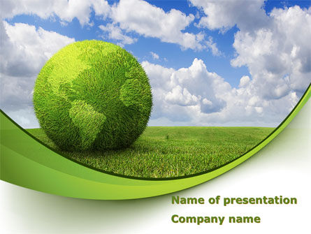 green globe powerpoint template, backgrounds | 08493, Powerpoint templates