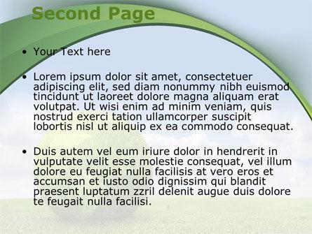 Green Globe PowerPoint Template, Slide 2, 08493, Nature & Environment — PoweredTemplate.com