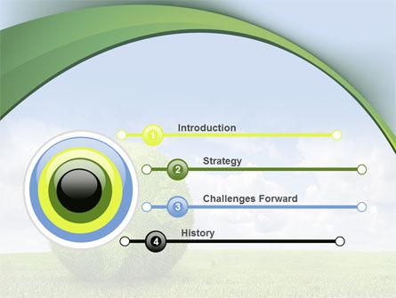 Green Globe PowerPoint Template, Slide 3, 08493, Nature & Environment — PoweredTemplate.com