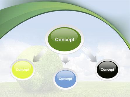 Green Globe PowerPoint Template, Slide 4, 08493, Nature & Environment — PoweredTemplate.com