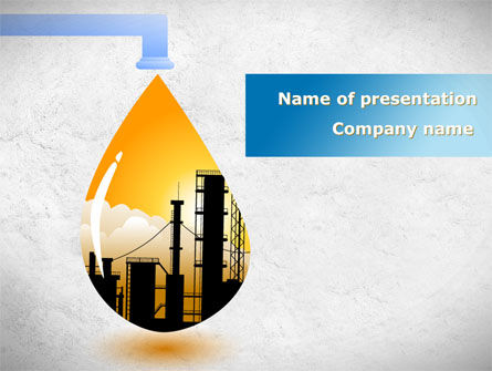 Oil Plant PowerPoint Template, 08497, Utilities/Industrial — PoweredTemplate.com