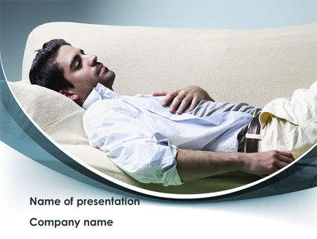 Napping Man Free PowerPoint Template, 08500, Medical — PoweredTemplate.com