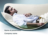 Medical: Napping Man Free PowerPoint Template #08500