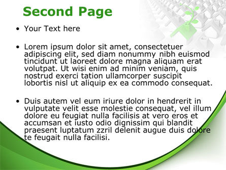 Eco House Germ PowerPoint Template Slide 2