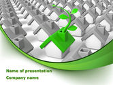 Careers/Industry: Eco House Germ PowerPoint Template #08502