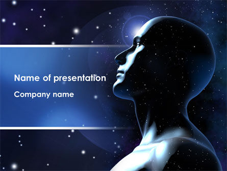 Infinite Universe PowerPoint Template, 08503, Technology and Science — PoweredTemplate.com