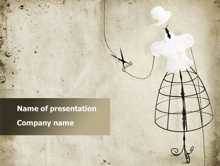 Careers/Industry: Elegant Clothes PowerPoint Template #08505