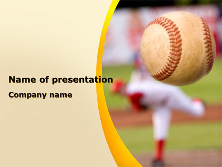 Baseball Pitcher Throw Powerpoint Template, Backgrounds | 08506
