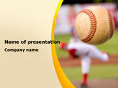 Sports: Baseball Pitcher Throw PowerPoint Template #08506