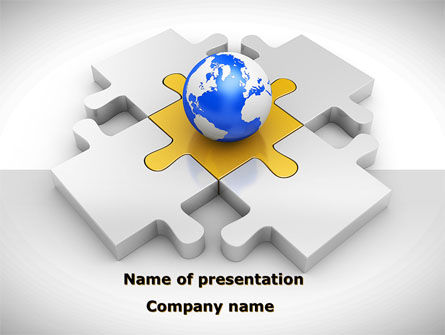 International Solutions PowerPoint Template, 08507, Global — PoweredTemplate.com