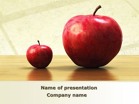 Sweet Apples PowerPoint Template, 08509, Consulting — PoweredTemplate.com