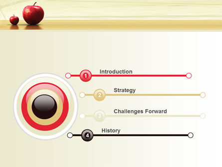 Sweet Apples PowerPoint Template Slide 3
