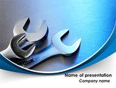 Utilities/Industrial: Metal Spanners PowerPoint Template #08513