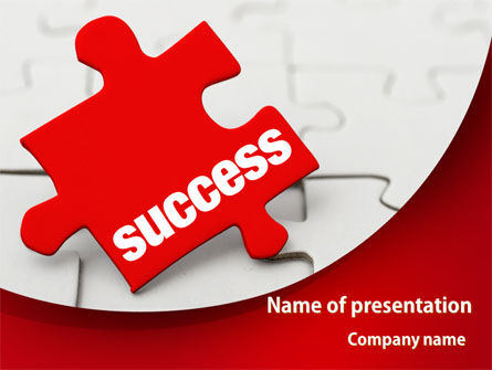 Business Concepts: Success Puzzle PowerPoint Template #08514