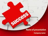 Success Puzzle PowerPoint Template#1