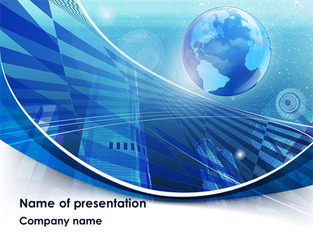 Global: Business Planet PowerPoint Template #08515