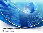 Global: Modelo do PowerPoint - planeta de negócios #08515