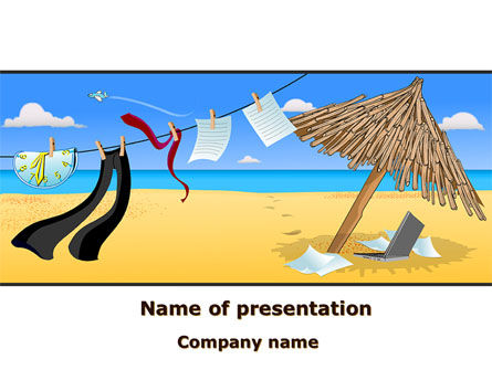 Careers/Industry: Rest Time PowerPoint Template #08520