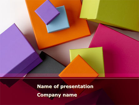 Business: Fancy Boxes PowerPoint Template #08521