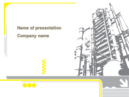 Chemical Industry Rectification Column PowerPoint Template, 08526, Utilities/Industrial — PoweredTemplate.com