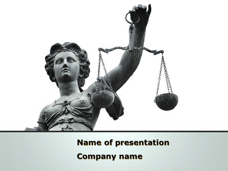Legal: Themis Goddess of Justice PowerPoint Template #08531