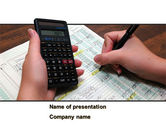 Financial/Accounting: Financial Calculating PowerPoint Template #08532
