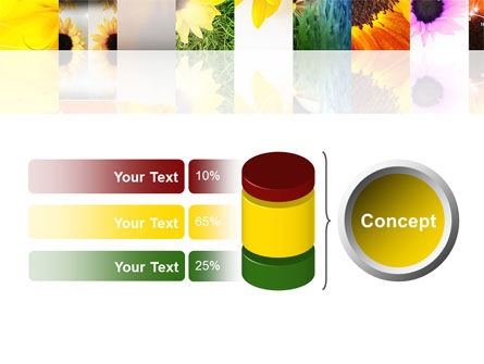 Open Flowers Bright Collage PowerPoint Template Slide 11