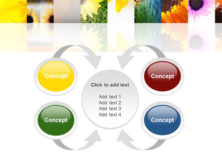 Open Flowers Bright Collage PowerPoint Template Slide 6