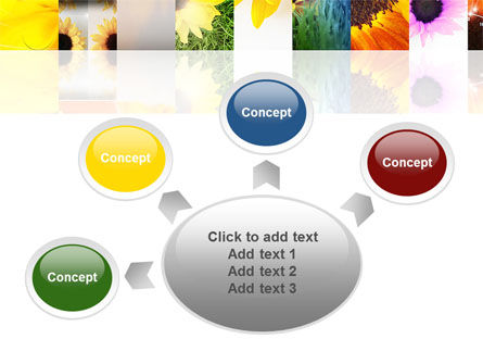 Open Flowers Bright Collage PowerPoint Template Slide 7