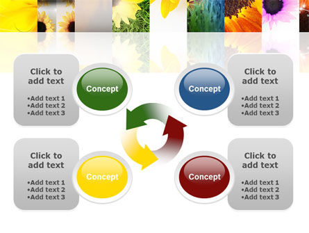 Open Flowers Bright Collage PowerPoint Template Slide 9