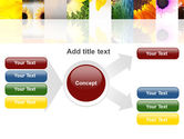Open Flowers Bright Collage PowerPoint Template#14