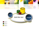 Open Flowers Bright Collage PowerPoint Template#16