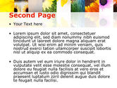 Open Flowers Bright Collage PowerPoint Template#2
