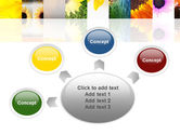 Open Flowers Bright Collage PowerPoint Template#7