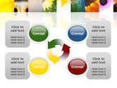 Open Flowers Bright Collage PowerPoint Template#9