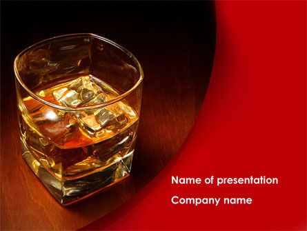 Food & Beverage: Whiskey in Rock PowerPoint Template #08534