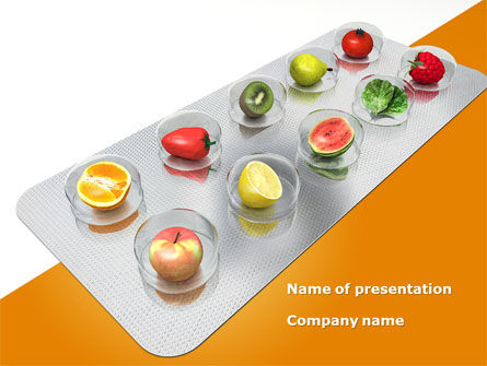 Careers/Industry: Healthy Pills PowerPoint Template #08536