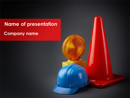 Roadworks PowerPoint Template, 08538, Construction — PoweredTemplate.com