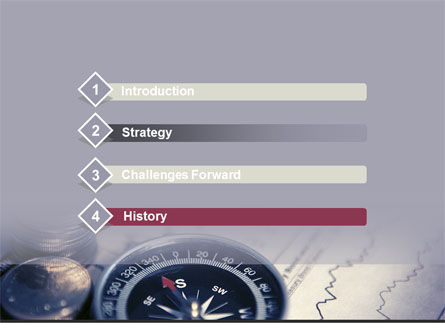 Direction Success PowerPoint Template, Slide 3, 08540, Financial/Accounting — PoweredTemplate.com