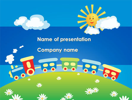 Education & Training: Jolly Train Ride PowerPoint Template #08543