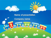 Education & Training: Jolly Trein PowerPoint Template #08543