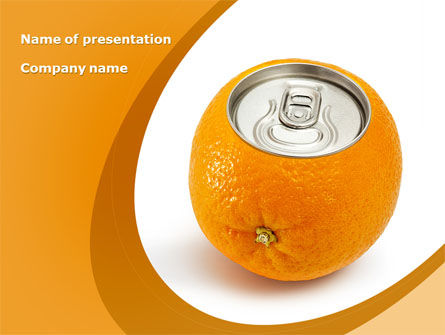 Orange In Can PowerPoint Template, 08544, Careers/Industry — PoweredTemplate.com