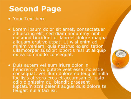 Orange In Can PowerPoint Template Slide 2