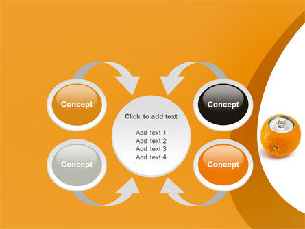Orange In Can PowerPoint Template Slide 6