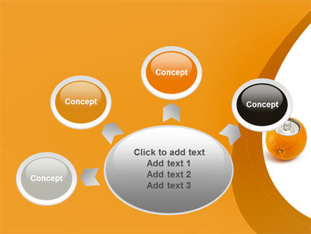 Orange In Can PowerPoint Template Slide 7
